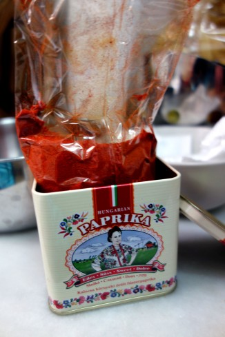 Beautiful, bright red smoked paprika powder.