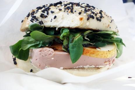 A new bagel spot with duck live paté