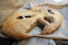 Fougasse bread in Châteauneuf-du-Pape