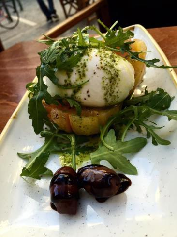 Incredible burrata salad with tomato and arugula