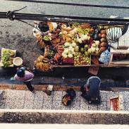 Fruit cart down from our hostels
