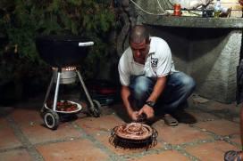 longaniza on the grill