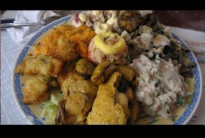 Seafood platter in Iquique