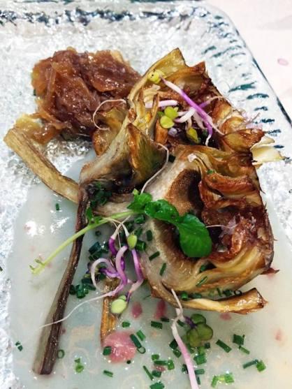Artichoke with caramelized onions at La Azotea in Sevilla
