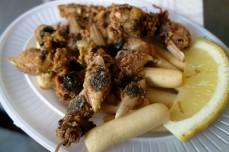 Fried Almendritas at Mercado Central de Abastos in Cádiz