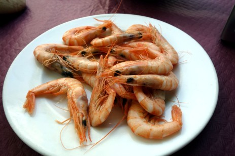 Gambas at La Parisien in Cádiz