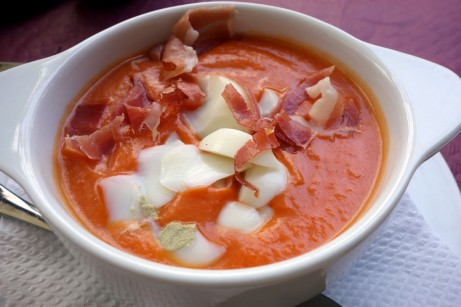 Salmorejo at La Parisien in Cádiz