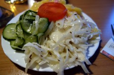 Salad with pickles