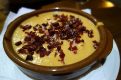 Salmorejo at Bar La Cávea in Córdoba