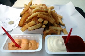 Fries at Fritland in Brussels