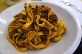 Tagliatelle al Ragù at Osteria dell'Orsa in Bologna