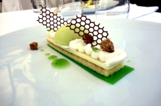 Green apple dessert at Logis de la Cadene