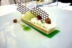 Green apple dessert at Logis de la Cadene