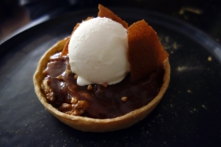 Salted caramel and walnut tart