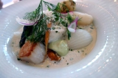 White Wine Poached Hake at Gondolen