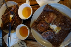 Galette and cider in St Malo